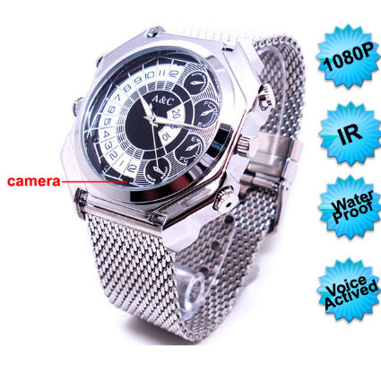 1080P IR Night Vision/Voice Activated Watch Camera DVR