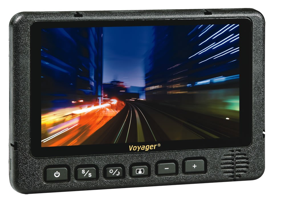 "Voyager 7"" Waterproof Rear View LCD Monitor with 3 Camera Inputs"