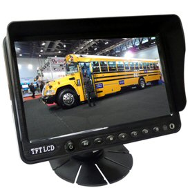 7 inch Car Stand Alone Monitor w/ Sunshade and Audio