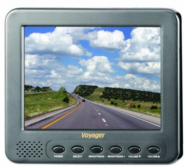 "Voyager 5.6"" Heavy Duty LCD Monitor with 2 Camera Inputs"