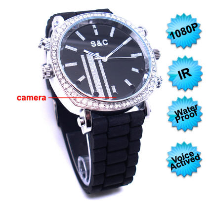 1080P IR Voice Activated 4GB Watch Camera DVR